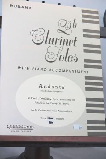 Tchaikovsky P - Andante from Pathetic Symphony Op 74 for Clarinet & Piano arr Davis H W
